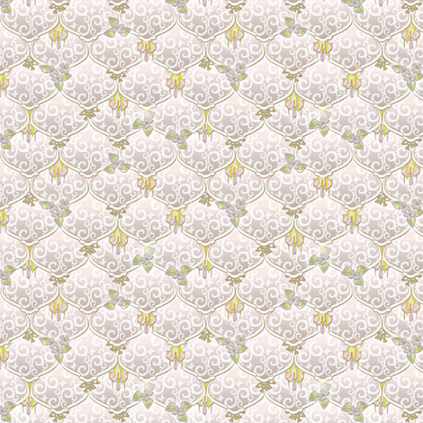 ©2011 dainty woodnymphweddingfeast aire fabric by glimmericks on Spoonflower - custom fabric