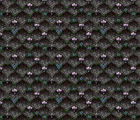 ©2011 woodnymphweddingfeast tempest fabric by glimmericks on Spoonflower - custom fabric