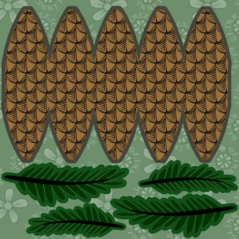 ©2011 Just the Pinecone Swatch fabric by glimmericks on Spoonflower - custom fabric