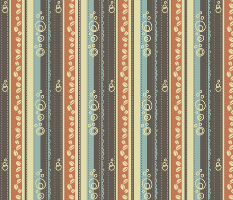 Coffee Stripes fabric by catru on Spoonflower - custom fabric