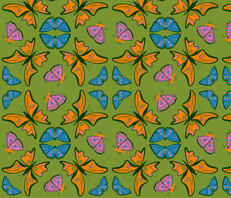 Groovy Nouveau Butterflies  fabric by can-do-girl-fabric on Spoonflower - custom fabric