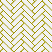 herringbone White and wasabi