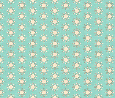 little_suns_aqua_linen fabric by holli_zollinger on Spoonflower - custom fabric