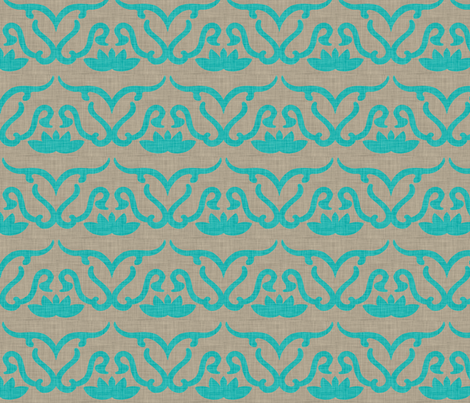 widden_panel_aqua fabric by holli_zollinger on Spoonflower - custom fabric