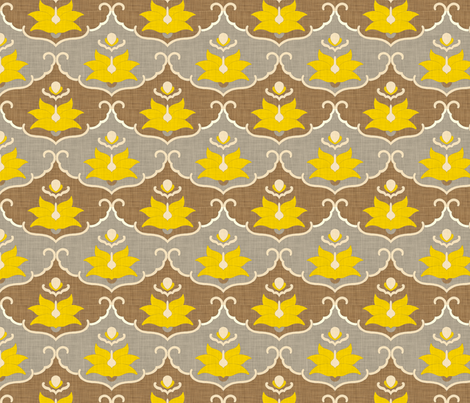 lemon_leaf_panel_linen fabric by holli_zollinger on Spoonflower - custom fabric