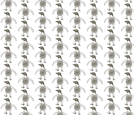 Kristi's Penguins fabric by joonmoon on Spoonflower - custom fabric