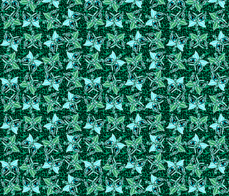©2011 2011 Leopard-optera green fabric by glimmericks on Spoonflower - custom fabric