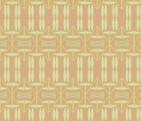 Tribal (Salmon) fabric by david_kent_collections on Spoonflower - custom fabric