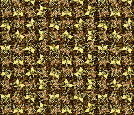 ©2011 2011 Leopard-optera brown fabric by glimmericks on Spoonflower - custom fabric