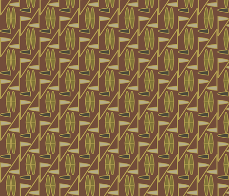 Tribal (Cocoa) fabric by david_kent_collections on Spoonflower - custom fabric