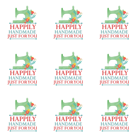 Happily Handmade Gift Label  fabric by icarpediem on Spoonflower - custom fabric