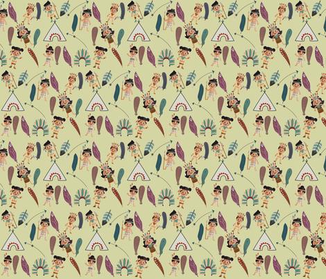 Little Indians  fabric by icarpediem on Spoonflower - custom fabric