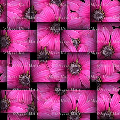 Woven Pink Flower