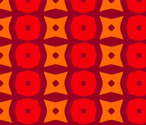 Donuts A (Orange) fabric by nekineko on Spoonflower - custom fabric