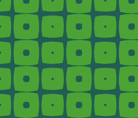 Cubes A (Green) fabric by nekineko on Spoonflower - custom fabric