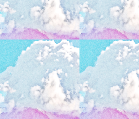 Watercolor Cloud, L fabric by animotaxis on Spoonflower - custom fabric
