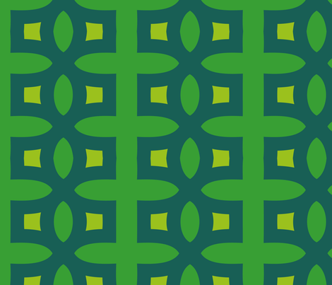 Stitches (Green) fabric by nekineko on Spoonflower - custom fabric