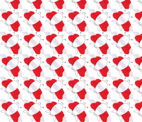 Rabbit in the Headlights fabric by gru on Spoonflower - custom fabric