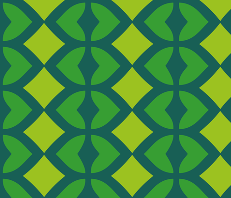 Chain of Hearts (Green)