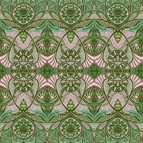 Victorian Gothic (olive and pink)