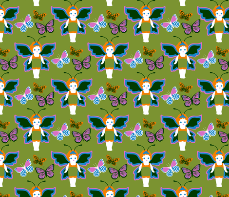 Princess Butterfly fabric by meredithjean on Spoonflower - custom fabric