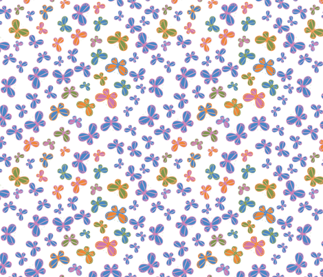 butterfly_rainbow fabric by wendyg on Spoonflower - custom fabric