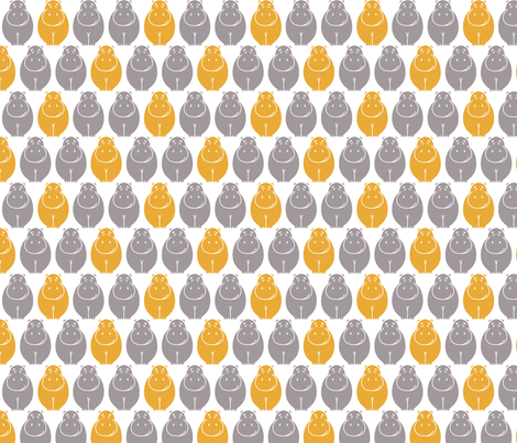 Small happy Hippos fabric by newmom on Spoonflower - custom fabric
