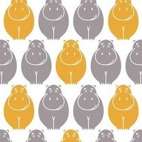 Small happy Hippos