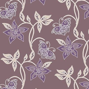 Butterflies & Flowers Virtual Batik_sunset_WARM_TAUPE