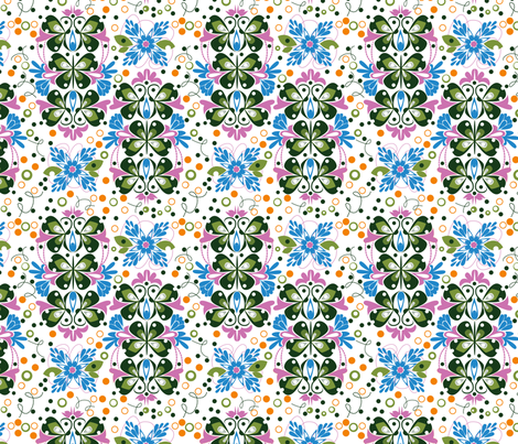 Butterfly Loop De Loop- ZOOM PLEASE :) fabric by gsonge on Spoonflower - custom fabric