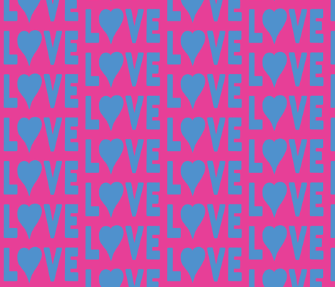 Love is Blue fabric by susaninparis on Spoonflower - custom fabric