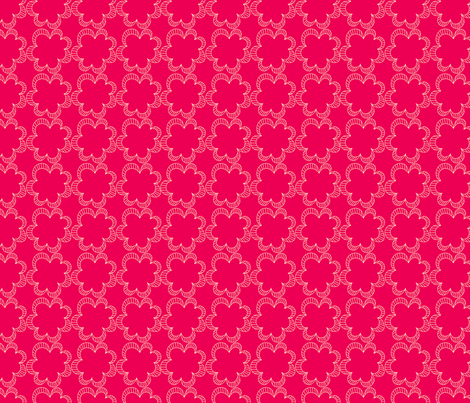 Luv-ollie Fleur Hot fabric by jackieatweelife on Spoonflower - custom fabric