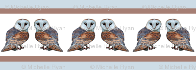 Stripey little barn owls