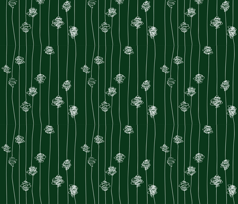 Silk Cocoons - dark green fabric by majobv on Spoonflower - custom fabric