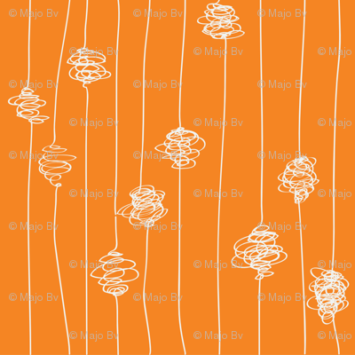 Silk Cocoons - orange