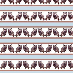 Stripey little tuffed ear owls