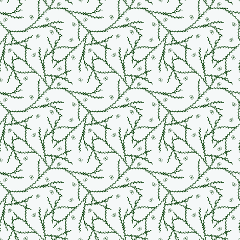 Flutterby Vine. fabric by rhondadesigns on Spoonflower - custom fabric