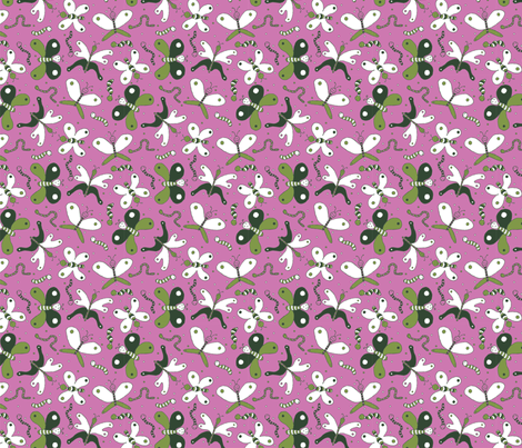 From caterpillar to butterfly fabric by pieke_wieke on Spoonflower - custom fabric