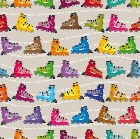 Roulez_Roller fabric by cassiopee on Spoonflower - custom fabric