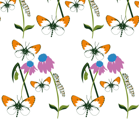Butterflies_in_the_sky fabric by art_is_hard on Spoonflower - custom fabric