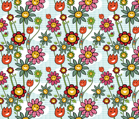 Wildflowers fabric by tradewind_creative on Spoonflower - custom fabric
