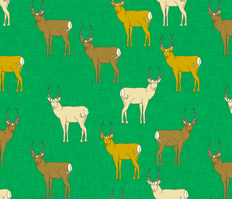 pronghorn_kelly_linen fabric by holli_zollinger on Spoonflower - custom fabric