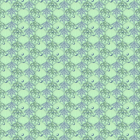 © 2011 Micro20 Mermaid's Wedding Feast Aqua-ed fabric by glimmericks on Spoonflower - custom fabric