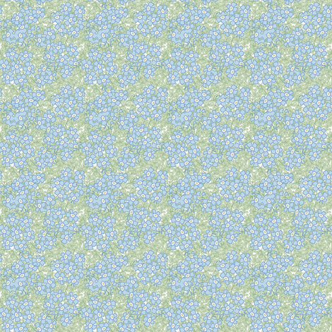 ©2011 Micro20 forgetmenot fabric by glimmericks on Spoonflower - custom fabric
