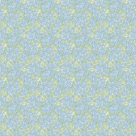 ©2011 Micro20 forgetmenot large fabric by glimmericks on Spoonflower - custom fabric
