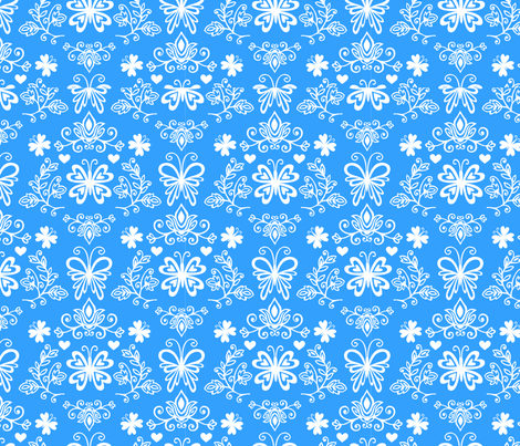 Butterfly Damask fabric by my_zoetrope on Spoonflower - custom fabric