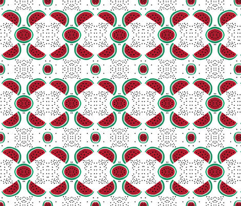 Watermelon magic, medium fabric by su_g on Spoonflower - custom fabric