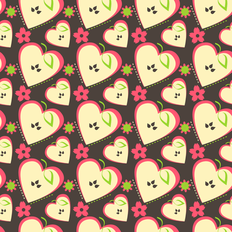 Girly Apple Blossoms fabric by eppiepeppercorn on Spoonflower - custom fabric