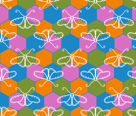 Butterfly Blueprint fabric by creative8888 on Spoonflower - custom fabric