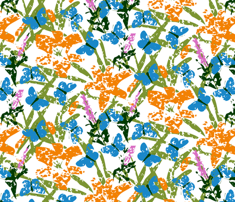 Karner Blue Butterfly Garden fabric by fussypants on Spoonflower - custom fabric